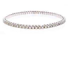 3.01 Carat Total Diamond Stretchable Bracelet in 18 Karat White Gold