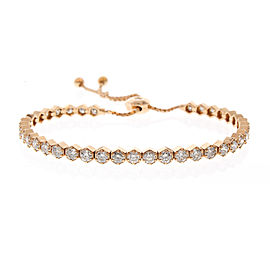 3.40 Carat Total Diamond Adjustable Bracelet in 18 Karat Rose Gold