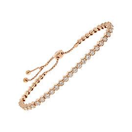 2.01 Carat Total Diamond Adjustable Bracelet in 14 Karat Rose Gold