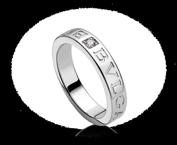 Bvlgari Bulgari 18K White Gold And Diamond Band Ring AN853348 ...