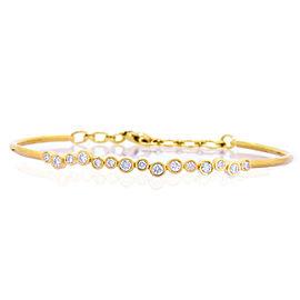 14k Rose Gold Diamond Bangle Bracelet