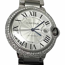 Cartier Ballon Bleu Stainless Steel Mens Watch