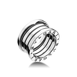Bvlgari Bulgari B. Zero 1 18K White Gold 4 Band Ring AN191026 Size: 4.5