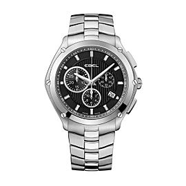 Ebel Sport Black & Stainless Steel Chronograph 41 mm Mens Watch