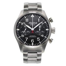 Alpina Startimer Pilot Chronograph Stainless Steel 44 mm Mens Watch