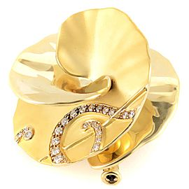 Carrera y Carrera 18K Yellow Gold & Diamond Flower Ring
