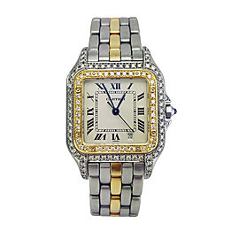 Cartier Panthere Two Tone Diamonds Womens Watch