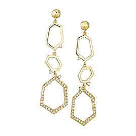 18K Gold Jackson Large Three Drop Earrings