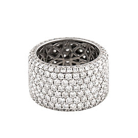 14 Karat White Gold Diamonds Ring