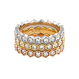 18K Rose/Yellow/White Diamond Ring