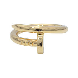 Cartier 18K Yellow Gold Just Un Clou Ring Sz 5.75