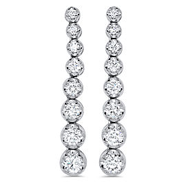Graduating Diamond Drop Earring