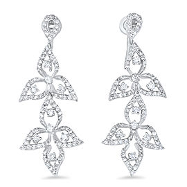 Diamond Leaf Drop Earring