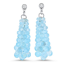 Blue Topaz Bubble Earring