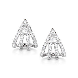 Sarah Leah 14k White Gold Earrings
