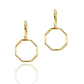 Yellow Gold Hero Leverback Earrings