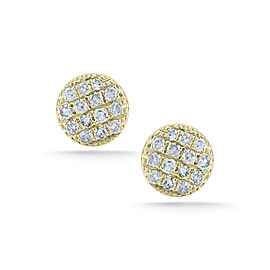 Yellow Gold Lauren Joy Pave Mini Earrings