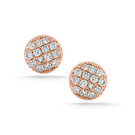 Rose Gold Lauren Joy Pave Mini Earrings