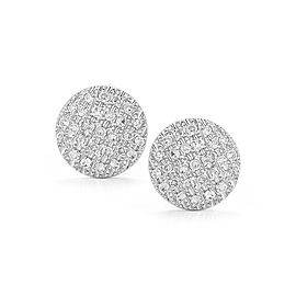 White Gold Lauren Joy Pave Medium Disc Earrings