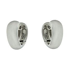 Mattia Cielo 18k White Gold Heart Earrings