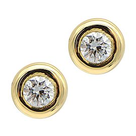 Sea Wave Diamonds 18k Yellow Gold 1.01CT Diamond Earrings