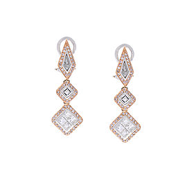 1.79 Carat Total Fancy Shape Two-Tone Diamond Drop Earring