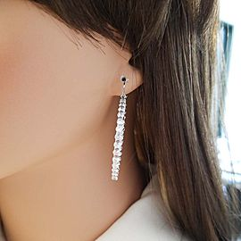 Earring 14KW, Dia 8.56CTW BR IN & OUT HOOPS 160stn