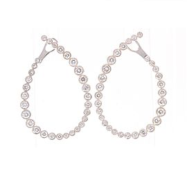 2.38 Carat Total Bezel Set Diamond Earrings in 18 Karat White Gold