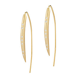 I.Reiss Satin-finish Small Wire Hook Earrings