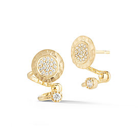 I.Reiss 14K Yellow Gold 0.27 Diamond Earrings