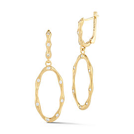 I.Reiss 14K Yellow Gold 0.36 Diamond Earrings