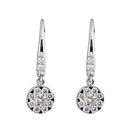 Rina Limor Diamond Dangling Flower Earrings