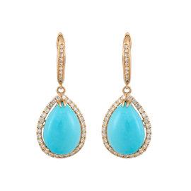 Turquoise Diamond Earring