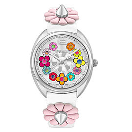 Fendi Timepieces Momento Fendi Flowerland 733064010486 34mm Womens Watch