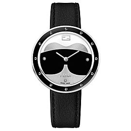 Fendi My Way Silver, Black, White 36 mm F363031611D1NG