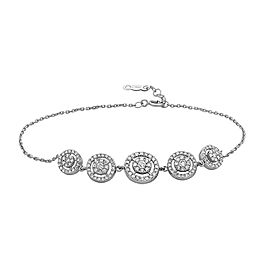 Crush & Fancy Agatha 18k White Gold 0.74ctw. Diamond Bracelet