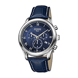 Ferre Milano Dark Blue Dark Blue Calfskin Leather FM1G041L0031 Watch