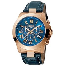 Ferre Milano D. Blue Dark Blue D. Blue Leather Strap FM1G079L0021 Watch