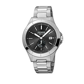 Ferre Milano Black Silver SS FM1G080M0061 Watch