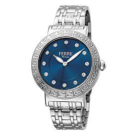 Ferre Milano Dk BLue Silver Stainless Steel FM1L041M0171 Watch