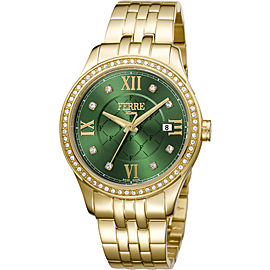Ferre Milano Dark Green Gold Stainless Steel FM1L047M0071 Watch