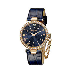 Ferre Milano Dark blue Dark Blue Calfskin Leather FM1L056L0041 Watch