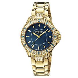 Ferre Milano Dk Blue Gold Stainless Steel FM1L067M0071 Watch