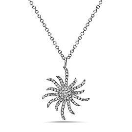 Crush & Fancy Halle 14k White Gold 0.25ctw. Diamond Necklace
