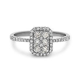 Crush & Fancy Love to Bits 18k White Gold 0.49ctw. Diamond Ring