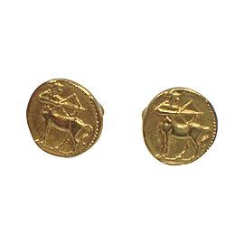 Van Cleef & Arpels 18K Yellow Gold Sagittarius Cufflinks