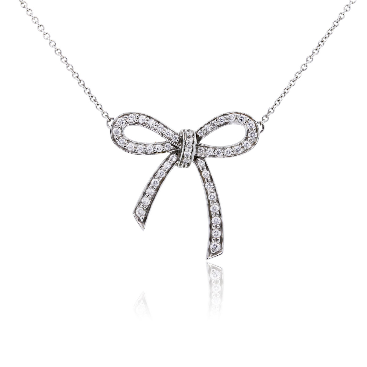 Tiffany co platinum diamond bow pendant necklace tiffany co platinum diamond bow pendant necklace tiffany co buy at truefacet aloadofball Images