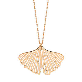 GINETTE NY 18K Rose Gold Gingko On Chain
