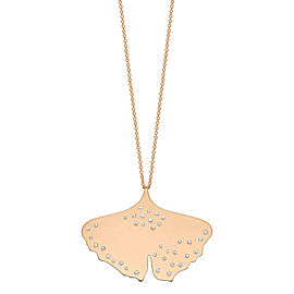 GINETTE NY 18K Rose Gold Diamond Gingko On Chain