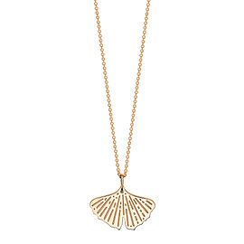 GINETTE NY 18K Rose Gold Mini Gingko On Chain